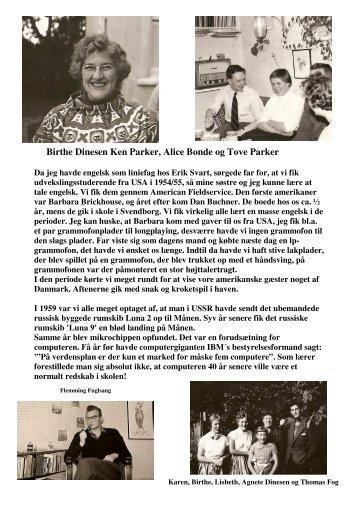 Birthe Dinesen Ken Parker, Alice Bonde og Tove Parker