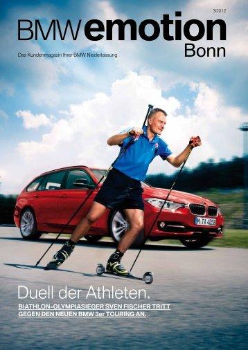 Duell der Athleten. - BMW Niederlassung Bonn