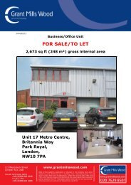 FOR SALE/TO LET - Grant Mills Wood