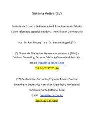 Sistema Vetiver - The Vetiver Network International