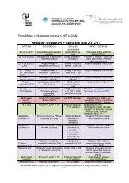 Koledar dogodkov v Å¡olskem letu 2012/2013