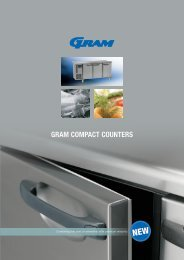 GRAM COMPACT COUNTERS - GRAM Commercial