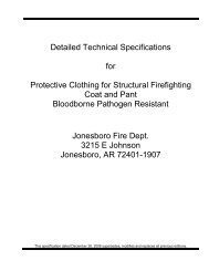 Detailed Technical Specifications for Protective Clothing for ...