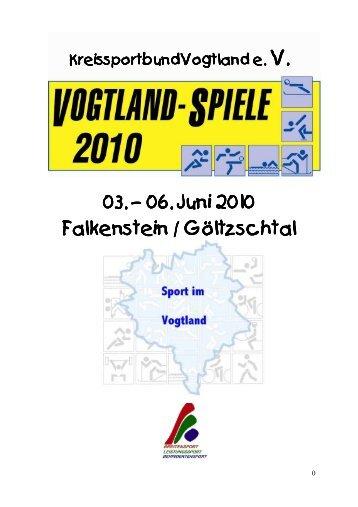 Organisationskomitee 7. Vogtlandspiele 2010 Sommersportarten