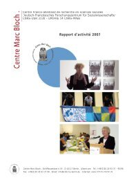 Bilan des Activités de la recherche - Centre Marc Bloch - HU Berlin