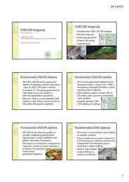 CAD-GIS integracija CAD-GIS integracija Karakteristike CAD objekata