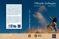 Offizielle GOLFREGELN 2012 – 2015 - Association Suisse de Golf