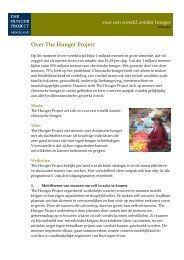 0905.ig. tekst voor op website Millenniumloop - The Hunger Project
