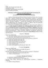 dr hab. Jerzy Ossowski, prof nadzw. PG Prodziekan ds. Nauki ...