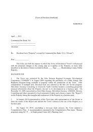 Exhibit III (b) CommunityOne Letter re DE ... - Town of Davidson