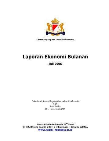 Laporan Ekonomi Bulanan - Kadin Indonesia