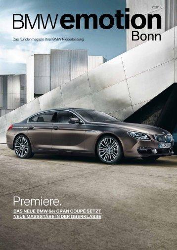 Premiere. - BMW Niederlassung Bonn