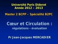 1- Coeur et circulation : régulation, évaluation 2012-2013 - index