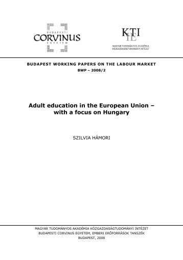 Adult education in the European Union