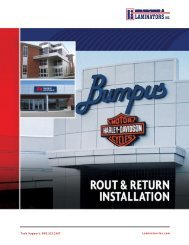 Rout & Return - Laminators Inc.