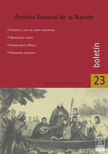 boletín - Archivo General de la Nación