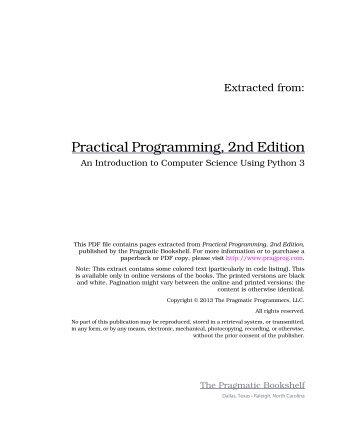 Practical Programming, 2nd Edition - The Pragmatic Bookshelf