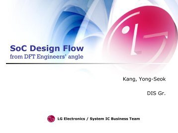 SoC Design Flow from DFT Engineers' angle
