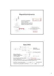 Magnetohydrodynamics Basic MHD
