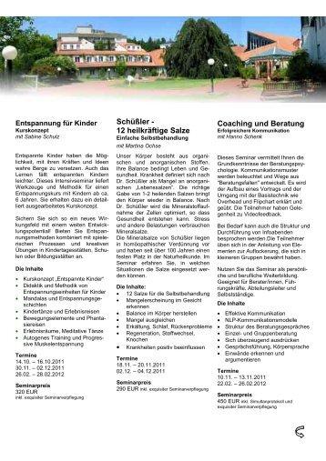 Schüßler - 12 heilkräftige Salze Coaching und Beratung - Akademie ...