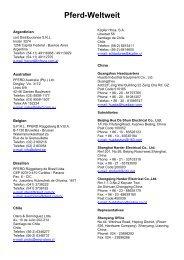 Adressen von Pferd International - FAU
