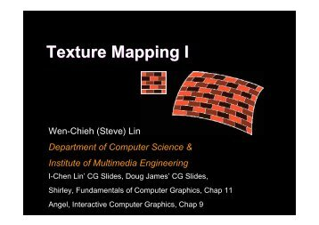 Texture Mapping I