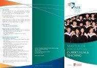 MEDT Brochure 290411 1 - National Institute of Education