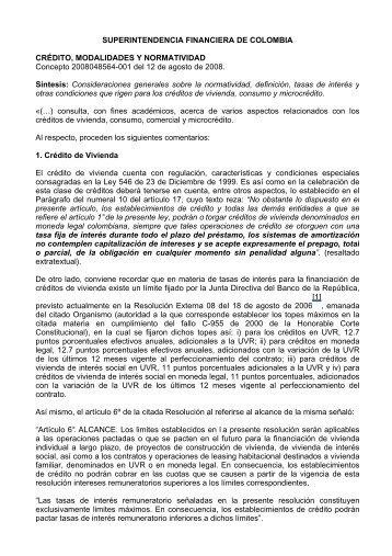 SUPERINTENDENCIA FINANCIERA DE COLOMBIA ... - Camacol