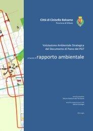 proposta di rapporto ambientale - Comune di Cinisello Balsamo