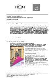 Newsletter ICOM AMS Mars-Avril 2007 - Museen in der Schweiz