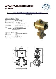 2 way PVC ball valve coupled with pneumatic actuator - Aryan ...