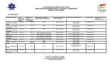 Lista de Servicios - H. Ayuntamiento de Carmen