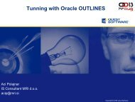 Oracle10g New Features Tuning and Performance ... - HrOUG