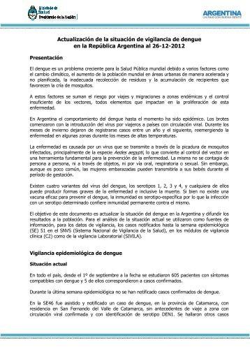 Dengue: Parte Nº82 - Ministerio de Salud