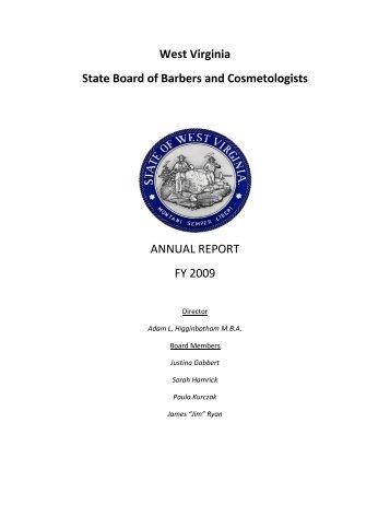 Annual Report FY 2009 - West Virginia Legislature