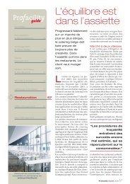 pour lire la suite, téléchargez gratuitement le PDF de ... - ProFacility.be