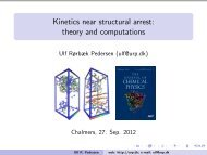 Kinetics near structural arrest: theory and computations - dirac
