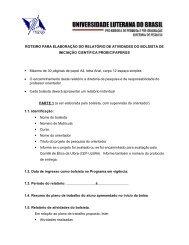 ROTEIRO PARA ELABORAÇÃO DO RELATÓRIO DE ... - Ulbra