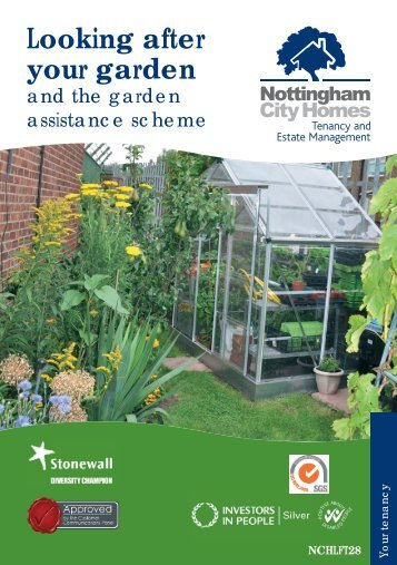Looking after your garden leaflet - Nottingham City Homes