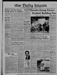 February 15 - The Daily Iowan Historic Newspapers - University of ...