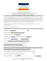 Fidler's candidate questionnaire - Citizens Union