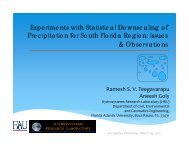 Experiments with Statistical Downscaling of Precipitation for South ...