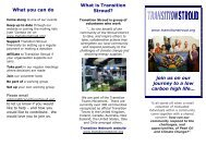 What you can do What is Transition Stroud? join us on our journey to ...