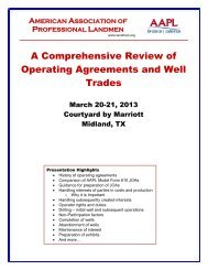 A Comprehensive Review of Operating Agreements and Well Trades