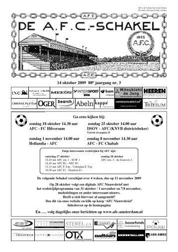 14 oktober 2009 88ejaargang nummer 3 - AFC, Amsterdam