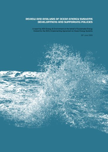 Review and analysis of ocean energy systems development and ...