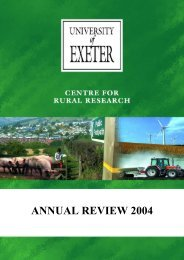 Centre for Rural Research Annual Review 2004 - College of Social ...