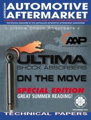 SPECIAL EDITION - Australian Automotive Aftermarket Magazine
