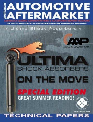 SPECIAL EDITION - Australian Automotive Aftermarket Magazine