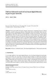 Full-text federated search of text-based digital libraries in peer-to ...